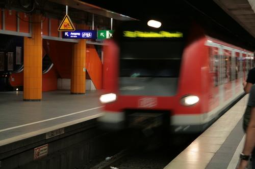 [Picture: blurry train]