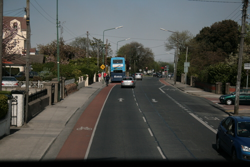 [Picture: Street with bus]