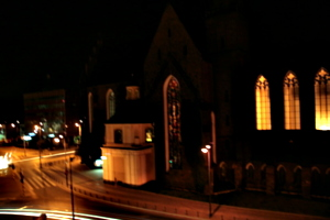 [picture: Church at night]