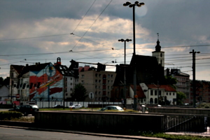[picture: Wires, Church, Buildings]