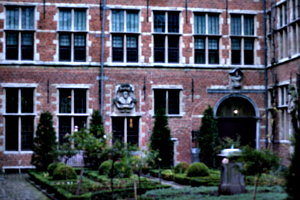 [picture: courtyard with formal garden]